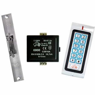 Pany elèctric amb teclat numèric i targeta de proximitat per a seguretat JIS