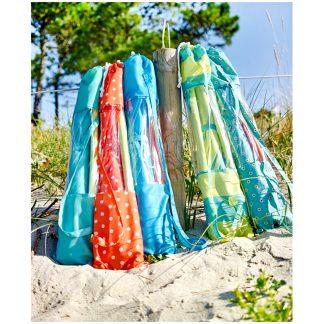 Sombrilla de playa con surtido de colores