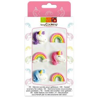 Decoracions de sucre per a rebostería creativa unicorns