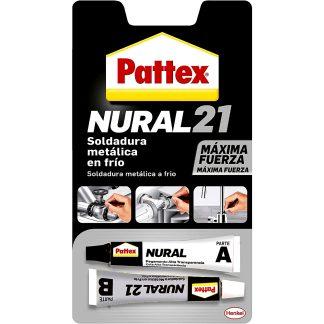 Soldadura metàl·lica reparadora en fred per a metalls Pattex Nural 21, adhesius professionals