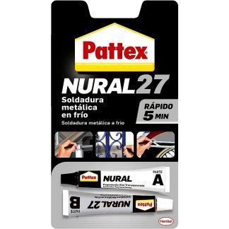 Soldadura metàl·lica reparadora en fred per a metalls Pattex Nural 27, adhesius professionals, ràpida assecat en 5 minuts