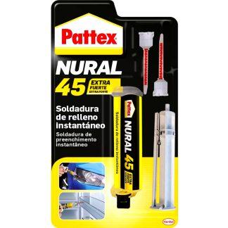 Soldadura instantánea para rellenar superficies irregulares Pattex Nural 45, adhesivos profesionales, soldadura instantánea