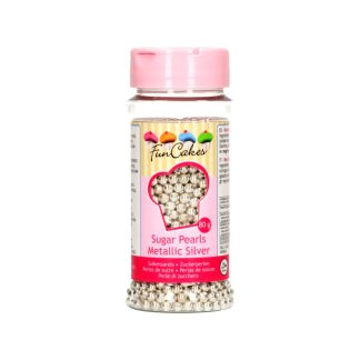 Perlas de azúcar 80 gr plata metálico