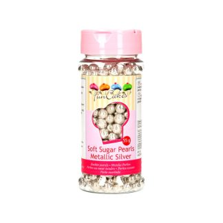 Perlas blandas 55 gr FunCakes plata
