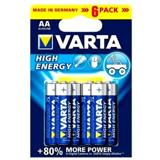 Pila alcalina Long Life High Energy VARTA