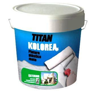 Pintura plástica mate exterior para fachadas de Titan Kolorea