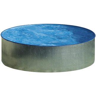 Piscina de acero galvanizado redonda para terraza y jardín GRE