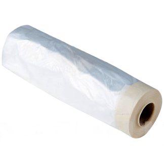 Plàstic protector amb cara superior adhesiva per a protegir mobles de la pintura