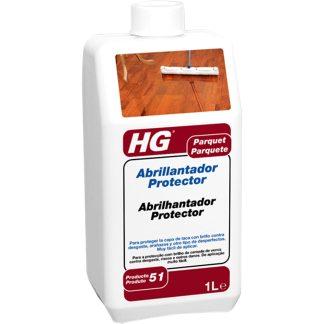 Protector abrillantador suelos de parquet para limpieza HG