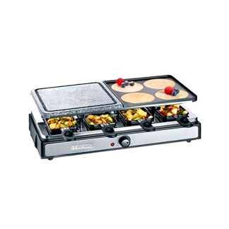 Raclette grill y pedra 8 persones