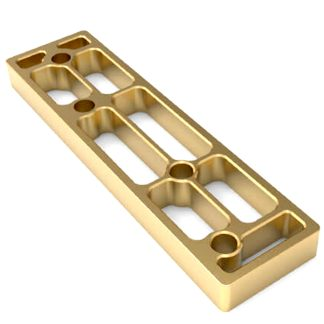 Suport per a base del pany de seguretat int-LOCK de AYR per al pont tancador de la porta, protecció llautó mat petit