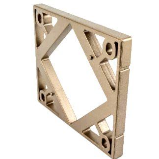 Soporte para base de la cerradura de seguridad int-LOCK de AYR para el puente cerrador de la puerta, protección níquel mate