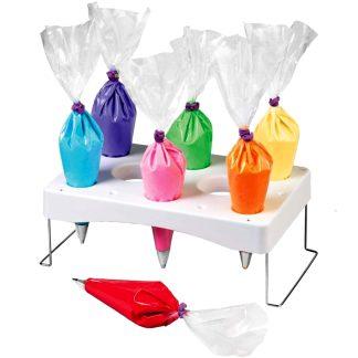 Soporte de plástico para mangas y filtros de repostería