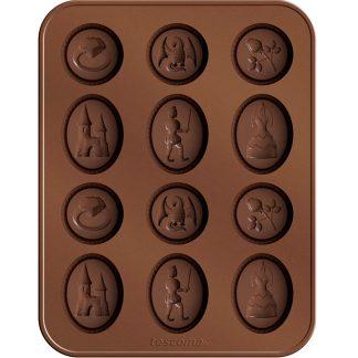 Tallador galetes de rebosteria amb motlle de xocolata TESCOMA per a galetes i bombons