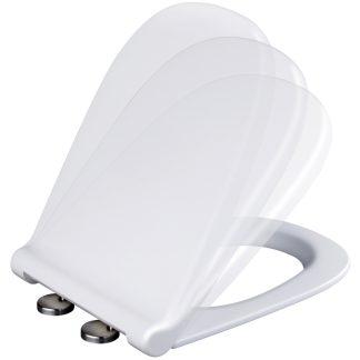 Tapa per WC Alba de PLASTISAN blanca amb sistema innovador Softclose i Topfixing per a major comfort i fàcil neteja