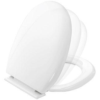 Tapa wc enid Plastisan blanca per a renovar el teu bany, fabricada en termoplast