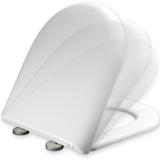 Tapa per WC Tula de PLASTISAN blanca amb sistema innovador Softclose i Topfixing per a major comfort i fàcil neteja