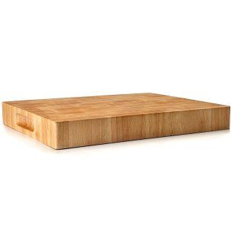 Taula de cuina per a tallar aliments Rubber Wood LACOR