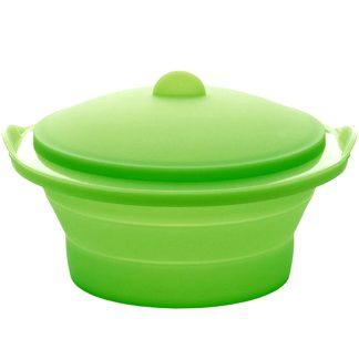 Vaporera de cocina plegable silicona para cocinar al vapor verduras y moluscos LÉKUÉ