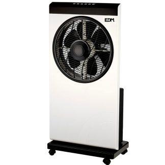 Ventilador nebulizador blanco y negro con 80W EDM, climatiza, climatización