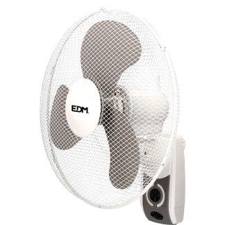 Ventilador de pared EDM con mando 45W 3 aspas, climatización, climatizar