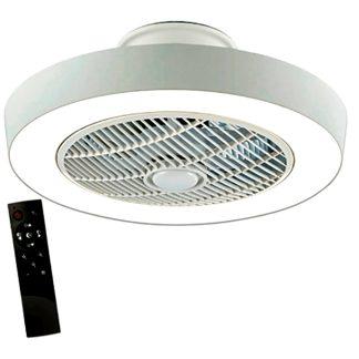 Ventilador de 7 aspea con plafón de luz LED 55W