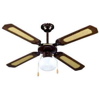 Ventilador de sostre d'estil fusta envellida reto vintage NON de 55W, climatització, ventilació