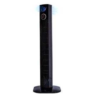 Ventilador torre negre 45w temporitzador oscil·lant